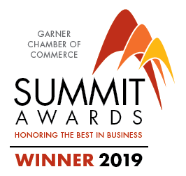 Garner Chamber of Commerce Summit Award Winner